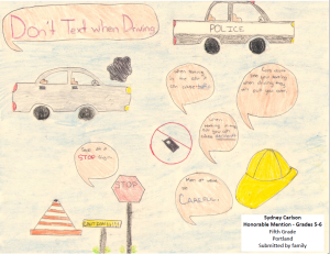 Sydney Carlson Fifth Grade Honorable Mention Grades 5-6