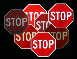 retro stop signs